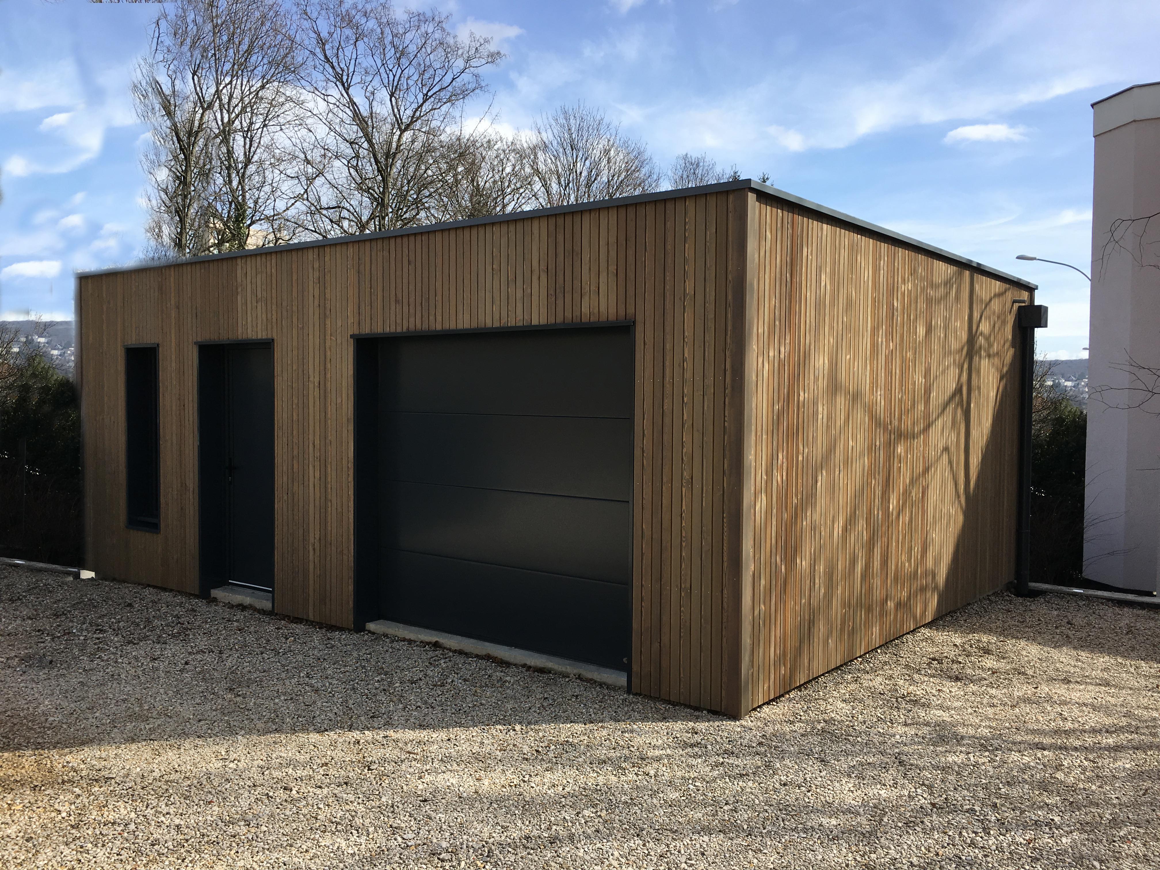 Bardage Bois Vertical Interieur garage ossature bois sur mesure de qualité | garage bois