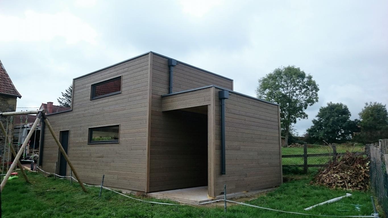 Garage Ossature Bois Sur Mesure De Qualit  Garage Bois Double En Kit